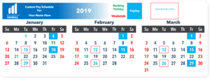 Payroll Calendar and Pay Schedule